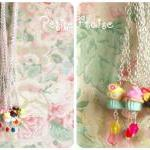 Cupcake necklace for kids, in yello..